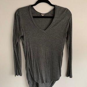 Wilfred Grey Long sleeve v neck medium